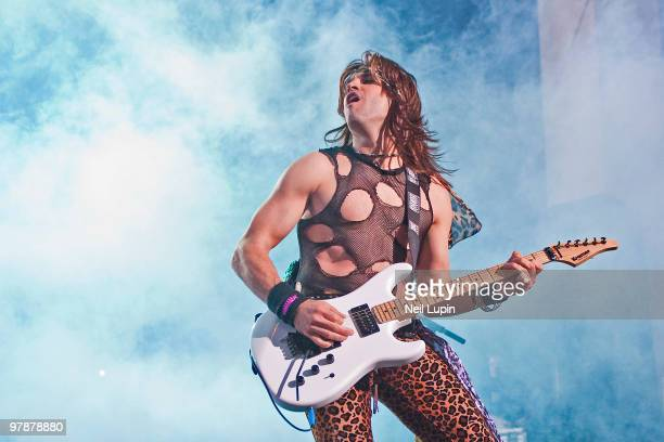 Satchel of Steel Panther performs on stage at Brixton Academy on March 19 2010 in London England