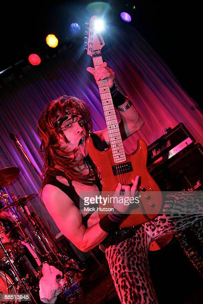 Satchel of Steel Panther performs on stage at the Canal Room on April 1st 2009 in New York