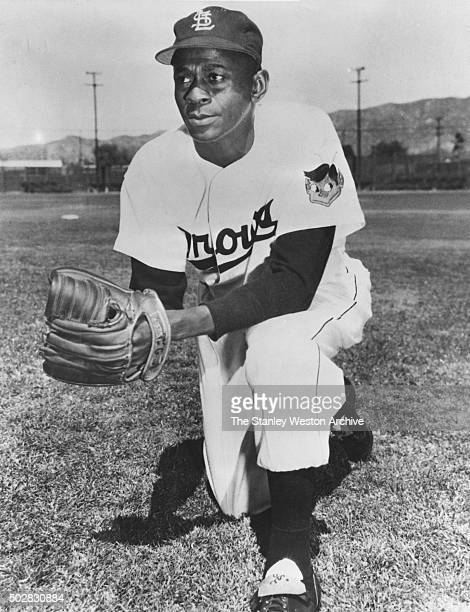 Satchel Paige, pitcher of the St. Louis Browns, poses for a portrat, circa 1950.