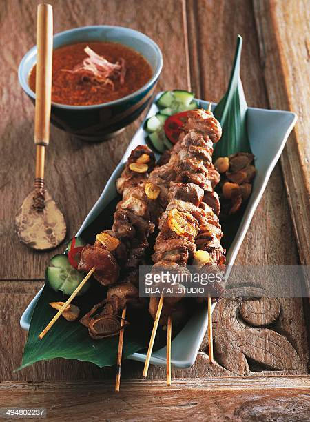 Sate' beef skewers with peanut sauce Indonesia