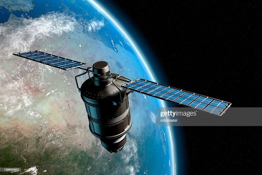 Satelliten- und Erde 7 : Stock-Foto