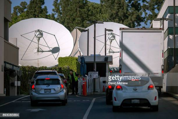 Satelite dishes are seen near a gate to Fox Studios after the Walt Disney Company announced that it will acquire 21st Century Fox on December 14 2017...