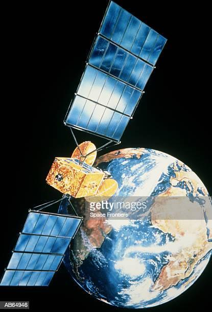 tv satellite 1, europes first direct broadcast satellite - orbiting stock-fotos und bilder
