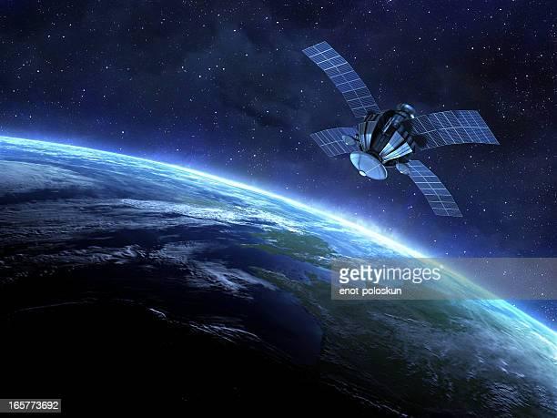 Satellit und Erde
