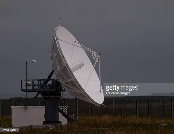 Satellite antenna at GCHQ Bude Cornwall UK