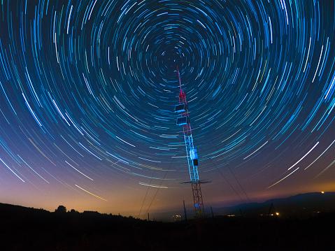Satellite Communications Under A Starry Sky 489607186