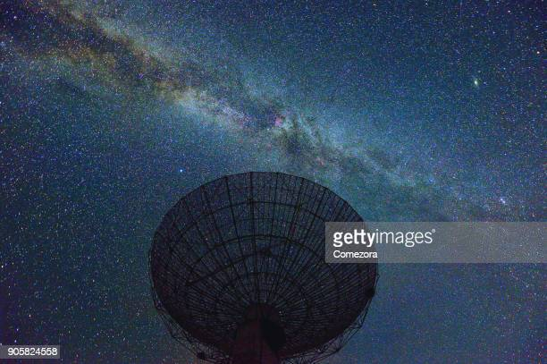 Satellite Dish at Midnight