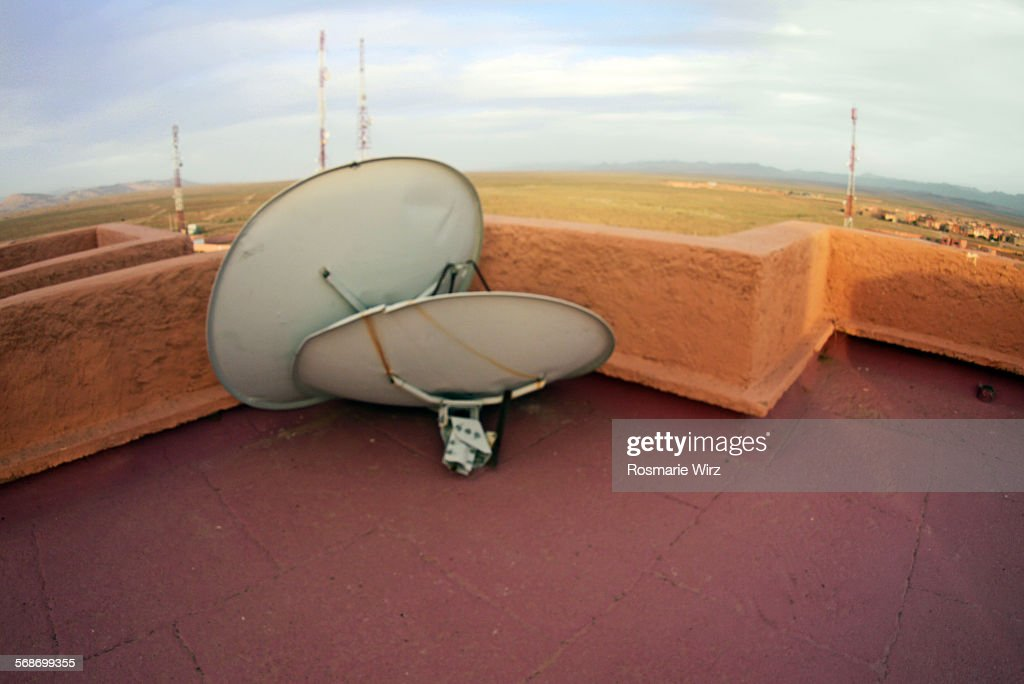 Satellite disks : Stock Photo