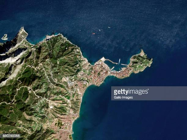 Satellite image of Ceuta an autonomous city of Spain on the north coast of Africa on February 8 2017