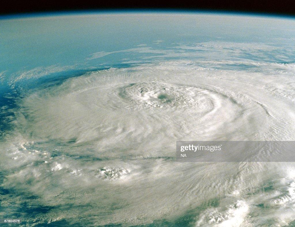 Satellite image of hurricane : Stock Photo