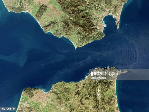 Satellite image of the Strait of Gibraltar on 17 January 2017