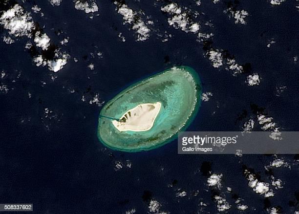 Satellite image of Triton Island in the South China Seas on January 22, 2015 in Triton Island.