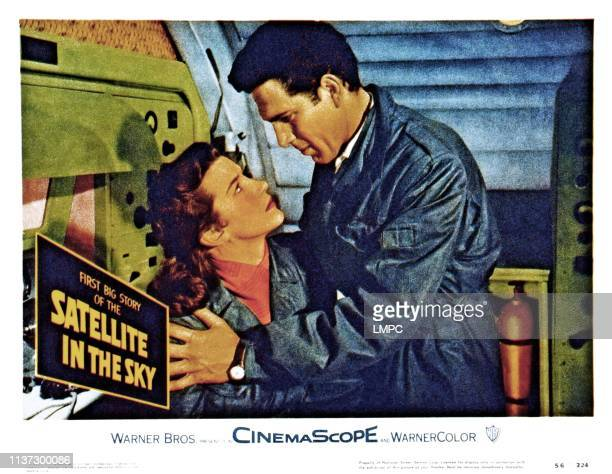 Satellite In The Sky, lobbycard, from left, Lois Maxwell, Kieron Moore, 1956.