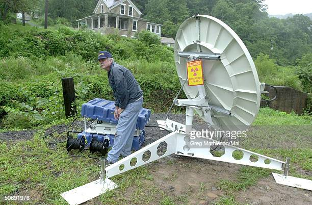 Satellite link for a Mobile Disaster Recovery Center. This mobile center allows disaster victims to get instant information on their claim. This...