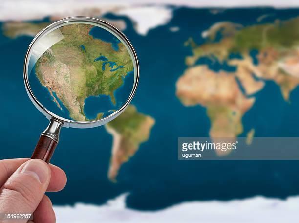 Satellite map