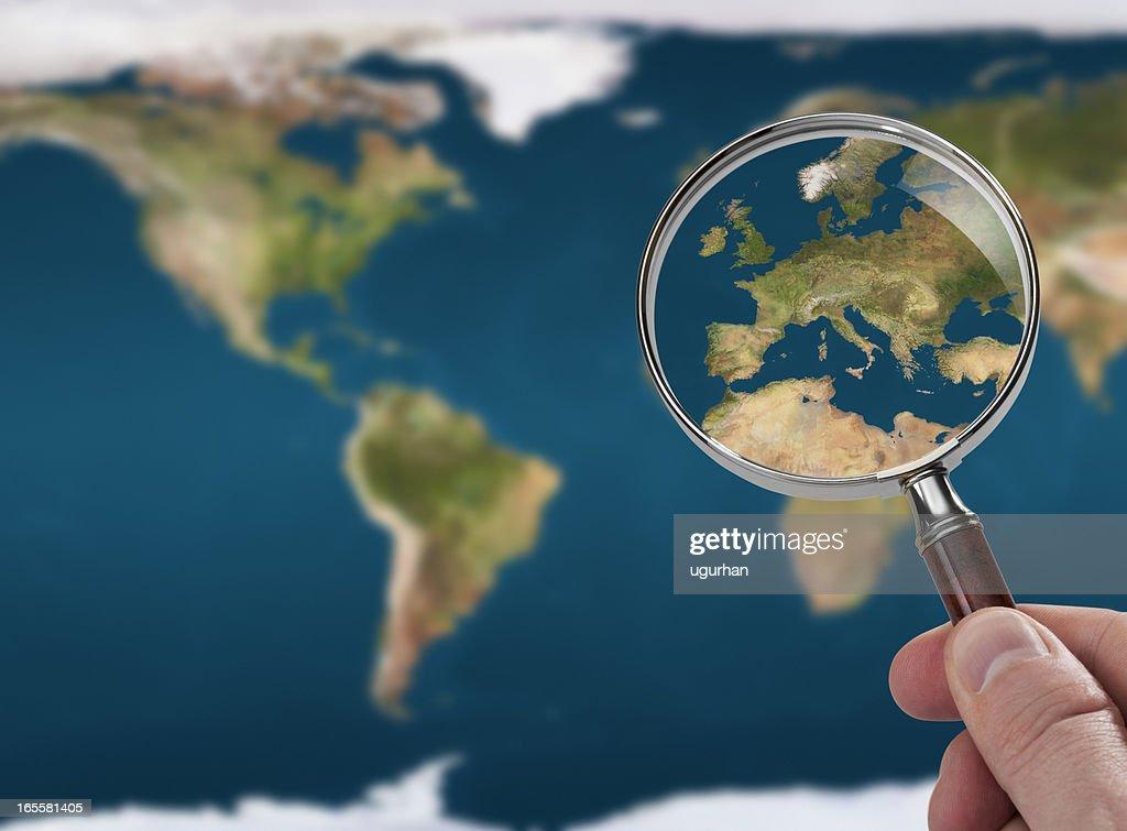 Satellite map : Stock Photo