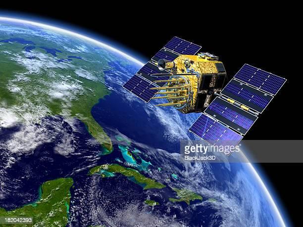 Por satélite GPS sobre terra