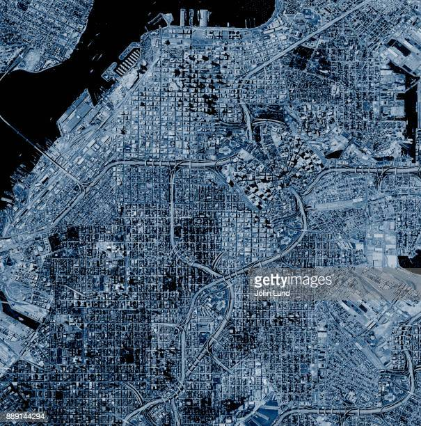 Satellite Photo Of A Fictional City