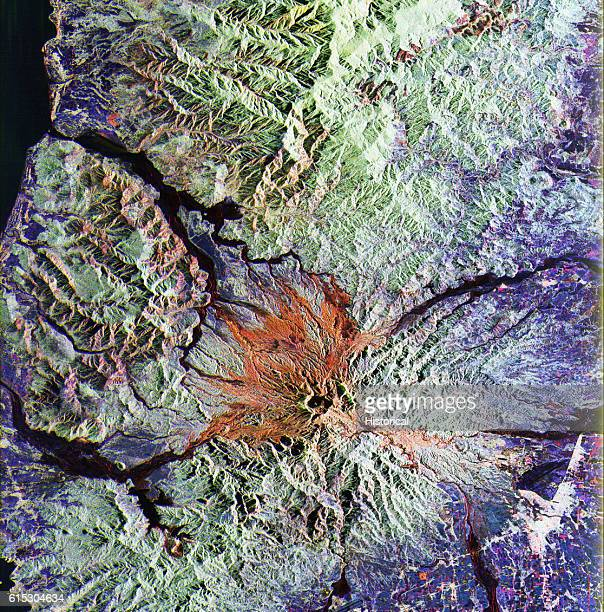 Satellite Photo of Mount Pinatubo