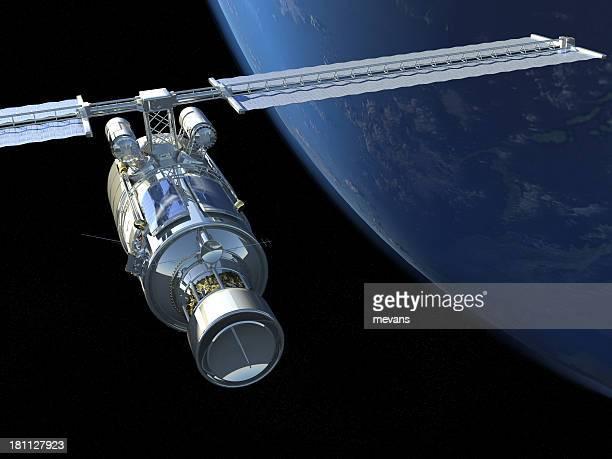 satelliten - orbiting stock-fotos und bilder