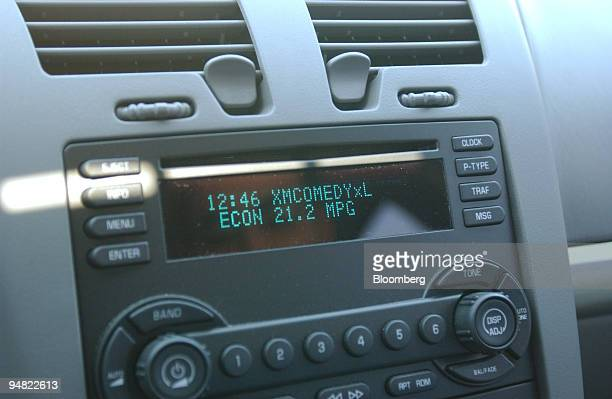 XM satellite radio is shown inside this new Chevy Malibu automobile at Luby Chevrolet in Lakewood Colorado Tuesday March 15 2005