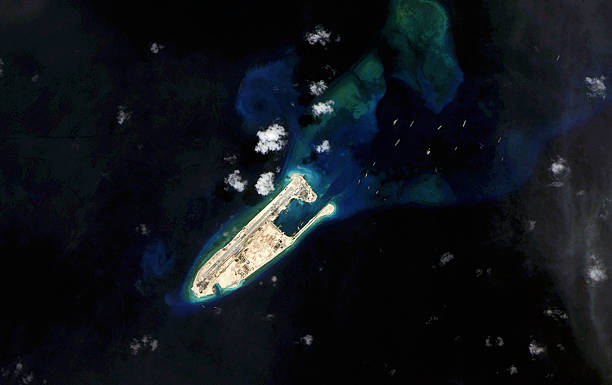 Latest Satellite Views Of A South China Sea Land Reclamation - Latest satellite view