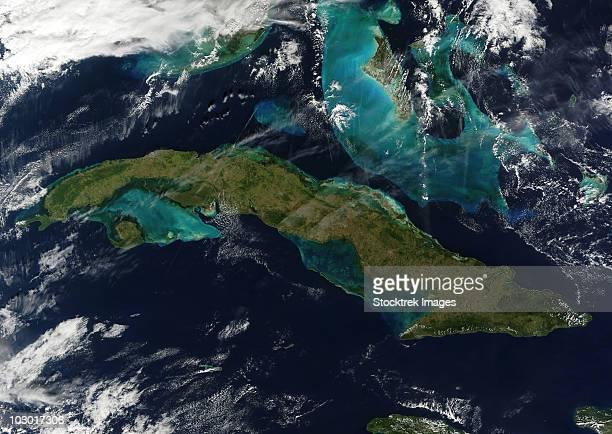 Satellite view of Cuba