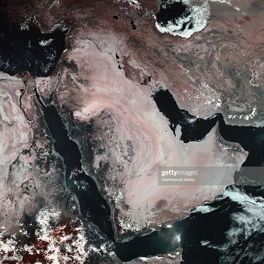 Satellite View of Middle East : Stock-Foto