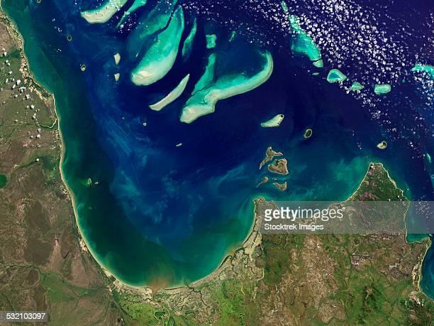 Satellite view of Princess Charlotte Bay in Australia.