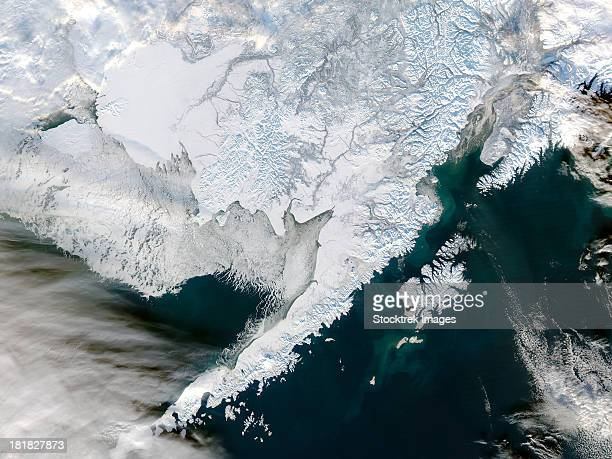 Satellite view of Southwestern Alaska.