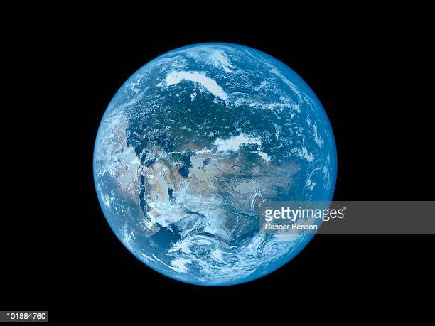 satellite view of the earth - pianeta terra foto e immagini stock
