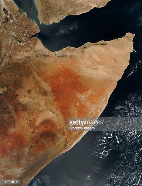 Satellite view of the Horn of Africa.
