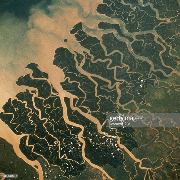 Satellite View of the Mouth of the Ganges River