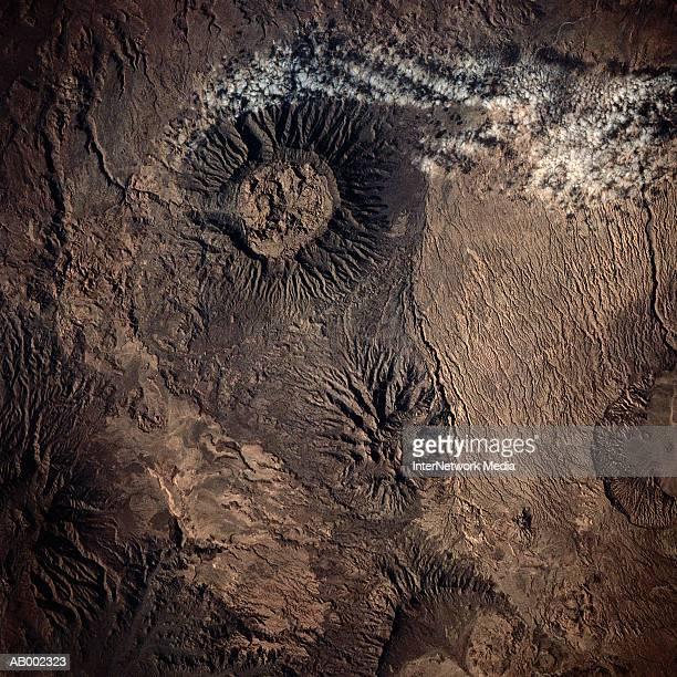 Satellite View of Tibetsi Mountains