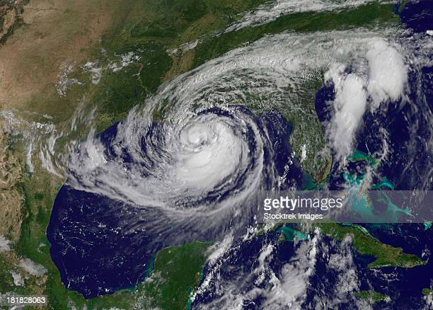 Satellite view of Tropical Storm Isaac in the Gulf of Mexico.
