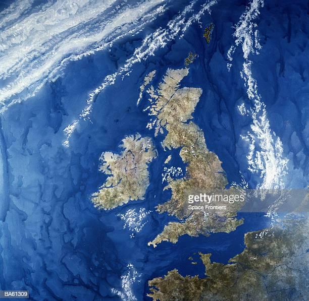 Satellite view of UK