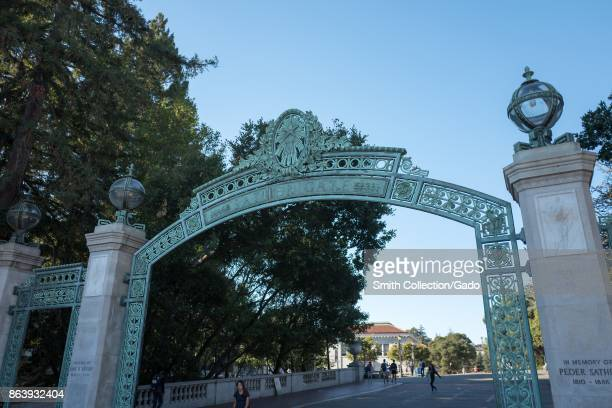Sather Gate a focal point on the campus of UC Berkeley Berkeley California October 6 2017