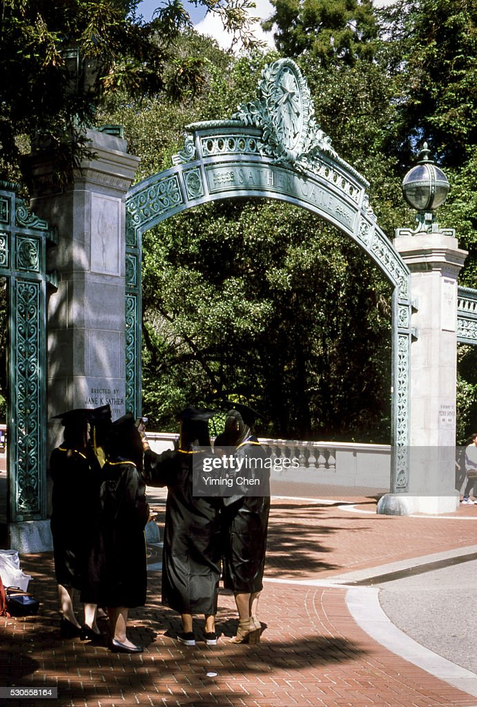 Sather Gate of University of California Berkeley : Stock Photo