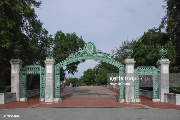 sather gates on sproul plaza - uc berkeley stock pictures, royalty-free photos & images