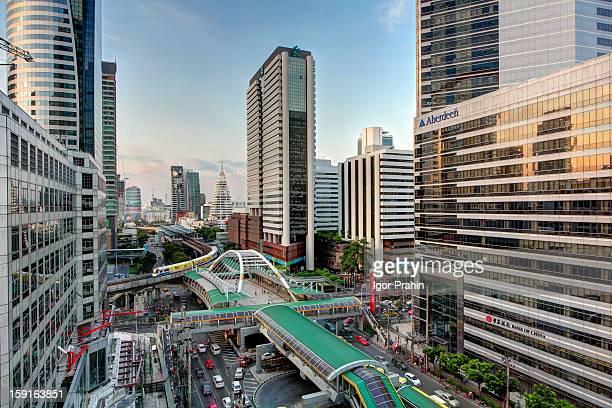 Sathorn Road Late Afternoon / Bangkok