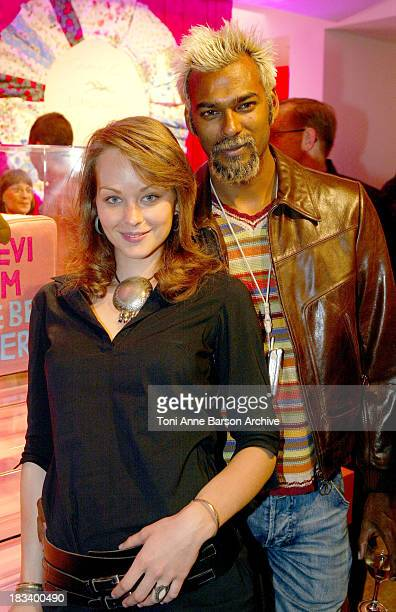 Satia Oblet and Guest during 2004 Paris Fashion Week Longchamp Party at Collette in Paris France