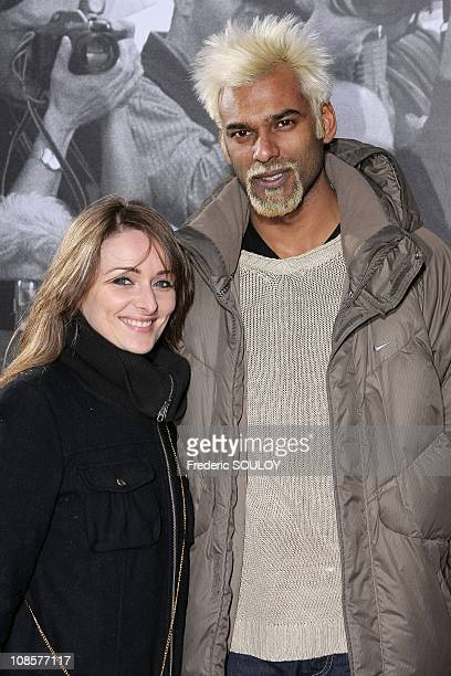Satia Oblet and his friend in Paris France on April 17 2008