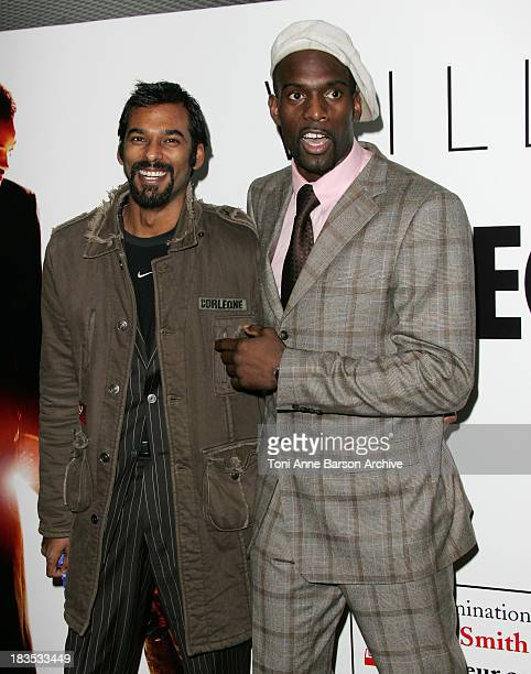 Satia Oblet and Pascal Gentille during The Pursuit of Happyness Paris Premiere at UGC Normandy in Paris France