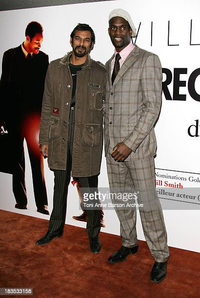 Satia Oblet and Pascale Gentille during The Pursuit of Happyness Paris Premiere at UGC Normandy in Paris France
