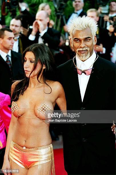 Satia Oblet during 2001 Cannes Film Festival Moulin Rouge Premiere at Palais des Festivals in Cannes France