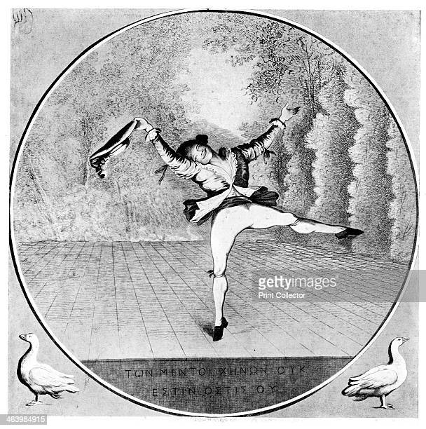 'Satire on Vestris' 1781 The French dancer MarieJeanAugustin Vestris known as Auguste Vestris Illustration from Social Caricature in the Eighteenth...