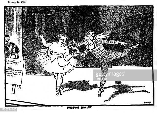 Satirical cartoon against Roosevelt, , United States.