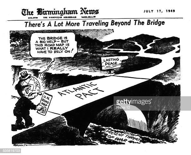 Satirical cartoon from the 'Birmingham News' on the North Atlantic Treaty July 17 United States National Archives Washington