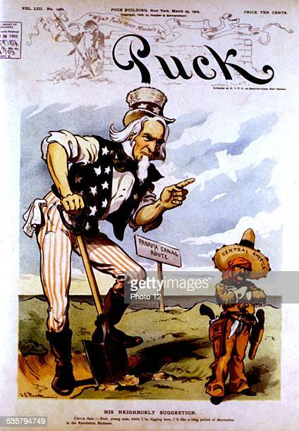 Satirical cartoon in 'Puck' about the Panama canal United States Washington Library of Congress