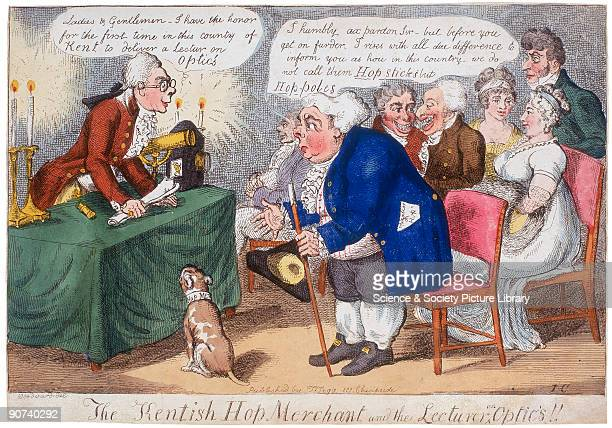 Satirical handcoloured engraving by Isaac Cruikshank after a drawing by the caricaturist George Woodward The engraving satirises the proceedings of a...